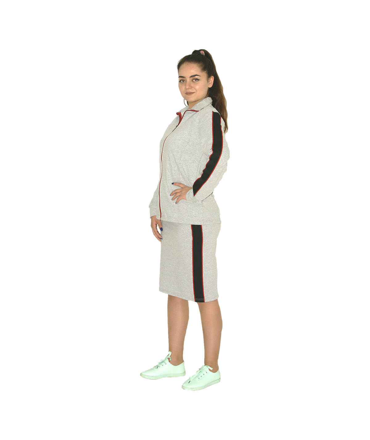 Tracksuit with a skirt